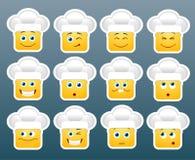 Cozinhando etiquetas do sorriso do emoticon Foto de Stock Royalty Free