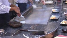 Cozinhando a grade coreana, praça da alimentação asiática filme