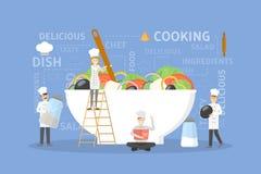 Cozinhando a ilustração da salada ilustração stock