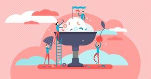Cozinhando a ilustração do vetor Preparação dos alimentos estilizado e artística fotografia de stock royalty free