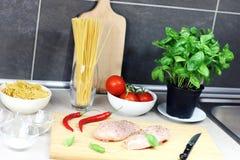 Cozinhando ingredientes da cozinha do alimento Imagem de Stock Royalty Free