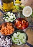 Cozinhando ingredientes. Vegetais Fotografia de Stock