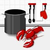 Cozinhando a lagosta Fotografia de Stock Royalty Free