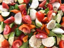 Cozinhando legumes frescos Fotografia de Stock
