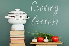 Cozinhando a lição fotografia de stock