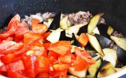 Cozinhando Maloubi Fotos de Stock Royalty Free