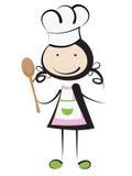 Cozinhando a menina Imagens de Stock
