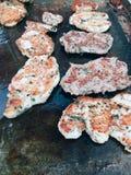 Cozinhando o bife Foto de Stock Royalty Free