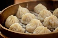 Cozinhando o bolinho de massa quente de shanghai imagem de stock