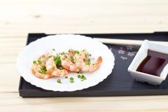 Cozinhando o camarão Foto de Stock