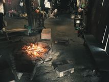 Cozinhando o fogo Foto de Stock Royalty Free