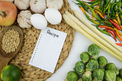 Cozinhando o ingrediente e o vegetal Imagem de Stock