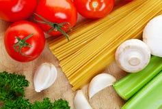 Cozinhando o italiano Foto de Stock Royalty Free