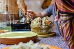 Cozinhando o peru Foto de Stock Royalty Free
