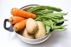 Cozinhando o potenciômetro com vegetais Fotografia de Stock
