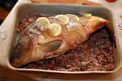 Cozinhando peixes Foto de Stock Royalty Free