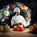 Cozinhando a receita da tabuleta fotografia de stock royalty free