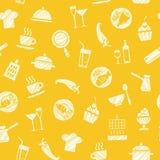 Cozinhando, teste padrão sem emenda, amarelo, vetor ilustração do vetor