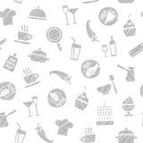Cozinhando, teste padrão sem emenda, branco, vetor ilustração royalty free