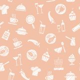 Cozinhando, teste padrão sem emenda, rosa, vetor ilustração royalty free