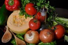 Cozinhando vegetais Imagem de Stock Royalty Free