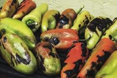 Cozinhando vegetais na grade Fotos de Stock