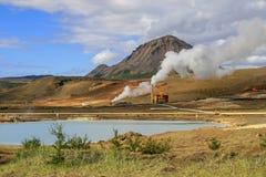 Cozinhando respiradouros na paisagem Foto de Stock