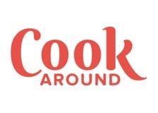 Cozinhe Around Logo ilustração stock