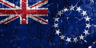 Cozinhe a bandeira do grunge de Islands, bandeira dependente nova do território de Zaeland imagens de stock
