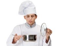 Cozinhe a vista na bandeja do guisado Imagens de Stock Royalty Free