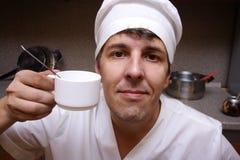 Cozinheiro assustador Fotografia de Stock Royalty Free