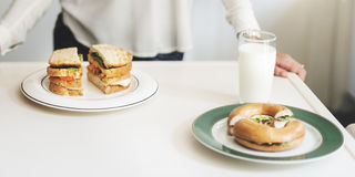 Cozinheiro Brunch Sandwich Concept da dona de casa da mãe foto de stock