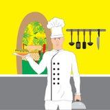 Cozinheiro Cafe Foto de Stock Royalty Free