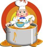Cozinheiro chefe ávido ilustração stock