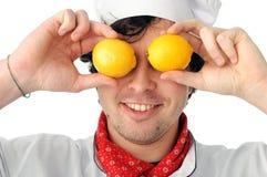 Cozinheiro chefe alegre Fotografia de Stock Royalty Free