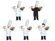 Cozinheiro chefe asiático Imagem de Stock Royalty Free