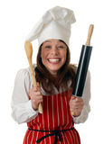Cozinheiro chefe bonito Foto de Stock Royalty Free