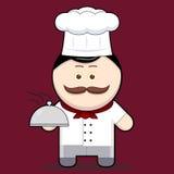 Cozinheiro chefe bonito da ilustração dos desenhos animados ilustração stock