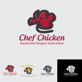 Cozinheiro chefe Chicken para o fastfood e cozinheiro chefe Imagem de Stock Royalty Free
