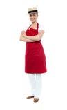 Cozinheiro chefe confiável bonito que levanta no estilo Imagens de Stock Royalty Free