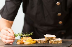 Cozinheiro chefe Cooking Fotos de Stock Royalty Free