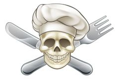 Cozinheiro chefe da faca e do pirata da forquilha ilustração stock