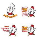 Cozinheiro chefe da galinha para a cozinha coreana ilustração stock