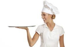 Cozinheiro chefe da mulher nova fotos de stock