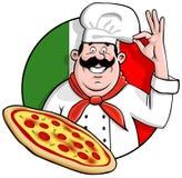 Cozinheiro chefe da pizza Fotos de Stock
