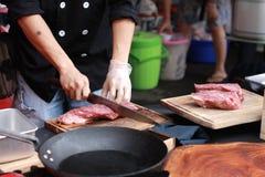 Cozinheiro chefe da rua Foto de Stock