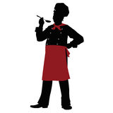 Cozinheiro chefe da silhueta - ilustração Foto de Stock