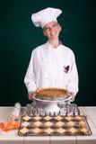 Cozinheiro chefe da torta de abóbora Imagem de Stock Royalty Free