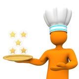 Cozinheiro chefe de cinco estrelas Toon Fotos de Stock