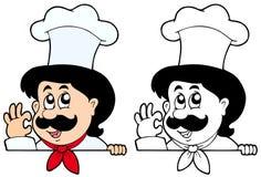 Cozinheiro chefe de espreitamento dos desenhos animados Imagens de Stock